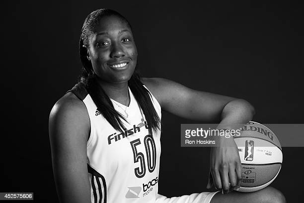 Jessica Davenport of the Indiana Fever poses for a portrait during the 2013 Media Day on May 13 2013 at Bankers Life Fieldhouse in Indianapolis...