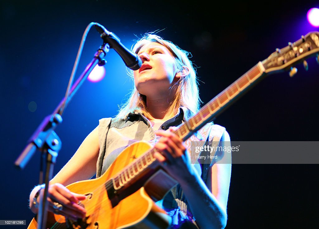 Jessica Davies of Smoke Fairies performs at the Royal Festival Hall on June 15, 2010 in London, England.