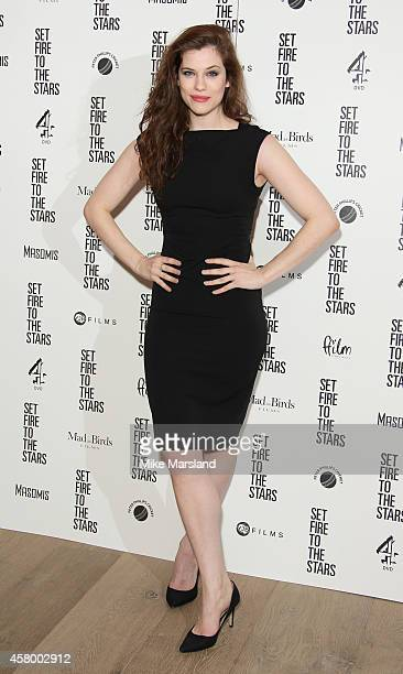 Jessica De Gouw attends the UK Premiere of 'Set Fire To The Stars' at Ham Yard Hotel on October 28 2014 in London England
