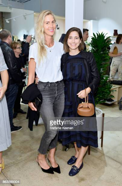 Jessica de Ruiter and Sarah Hendler at Creatures of Comfort Celebrates Silverlake Opening hosted by Jade Lai Jenny Slate and Busy Philipps on October...