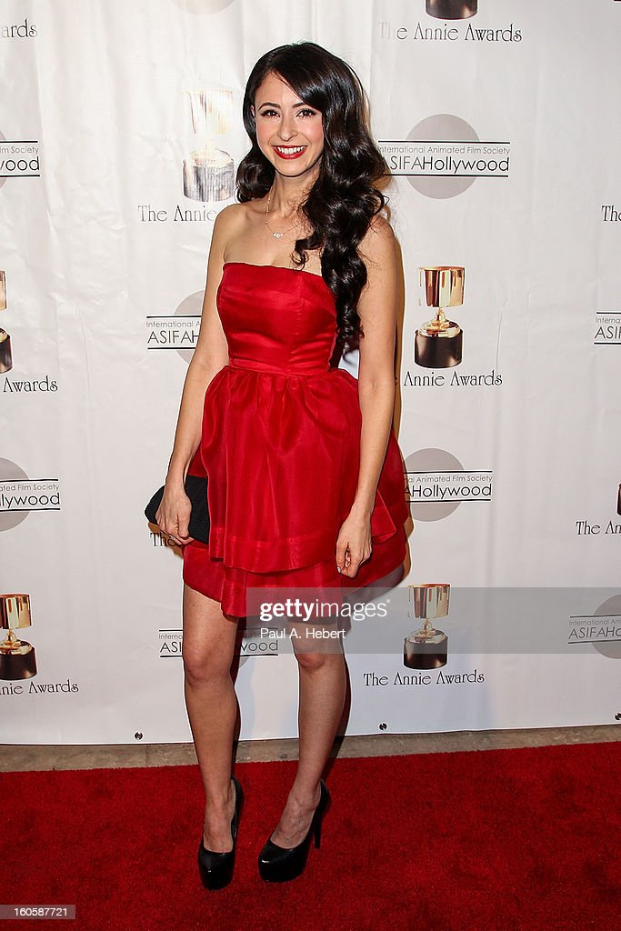 Jessica DiCicco arrives at the 40th Annual Annie Awards held at Royce Hall on the UCLA Campus on February 2, 2013 in Westwood, California.