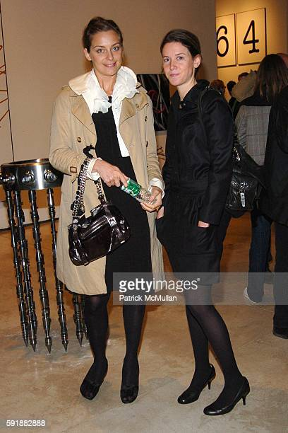 Jessica Diehl and Ashley Brokaw attend Opening Reception for The Keith Tyson Exhibition 'Geno Pheno' at PaceWildenstein Gallery on October 14 2005 in...