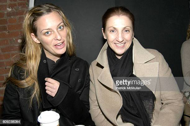 Jessica Diehl and Mary Brownick attend Derek Lam Fall 2007 Collection at The Tunnel on February 6 2007 in New York City