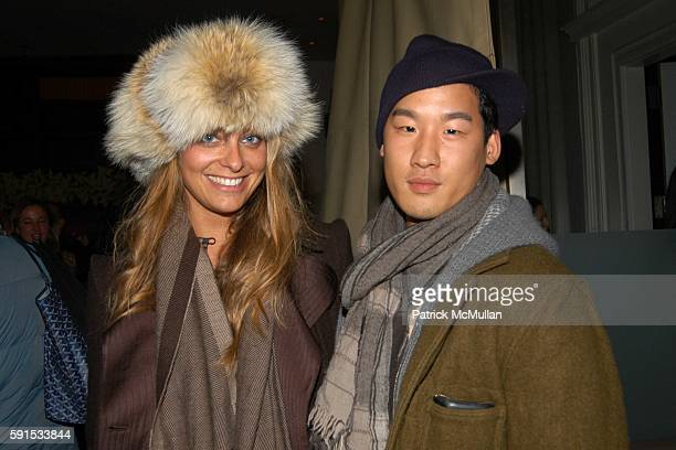 Jessica Diehl and Richard Chai attend Dom Perignon Hosts A Celebration Of Karl Lagerfeld's New Book '7 Fantasmes Of A Woman' at The Mercer on...