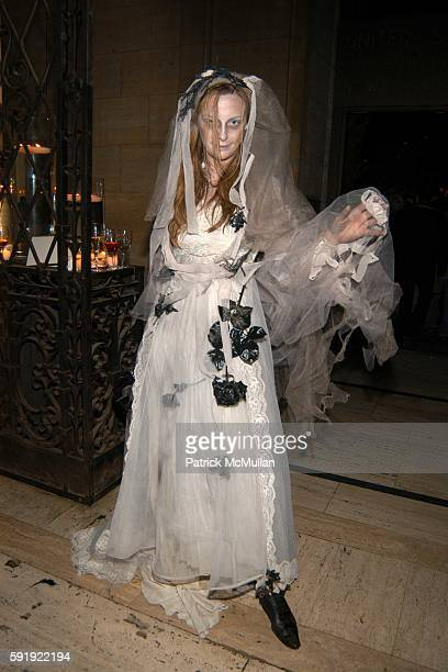 Jessica Diehl attends FENDI 80th ANNIVERSARY All Hallow's Eve Party hosted by KARL LAGERFELD at 25 Broadway on October 29 2005 in New York City
