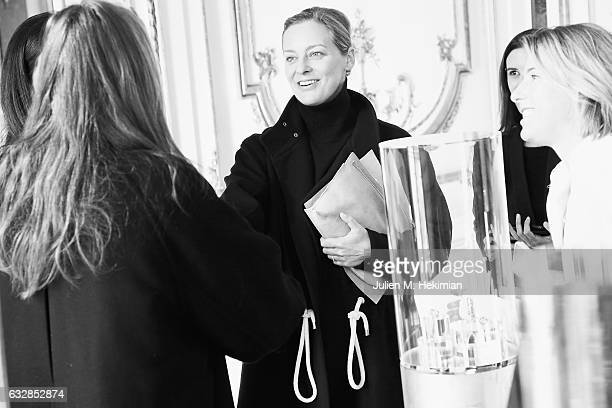Jessica Diehl attends the Dauphin New Collection Presentation as part of Paris Fashion Week Haute Couture Spring Summer 2017 at Hotel D'Evreux on...