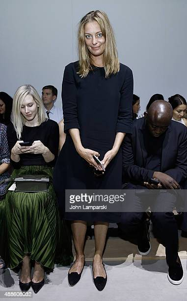 Jessica Diehl of Vanity Fair attends the Boss Womenswear show during Spring 2016 New York Fashion Week The Shows on September 16 2015 in New York City