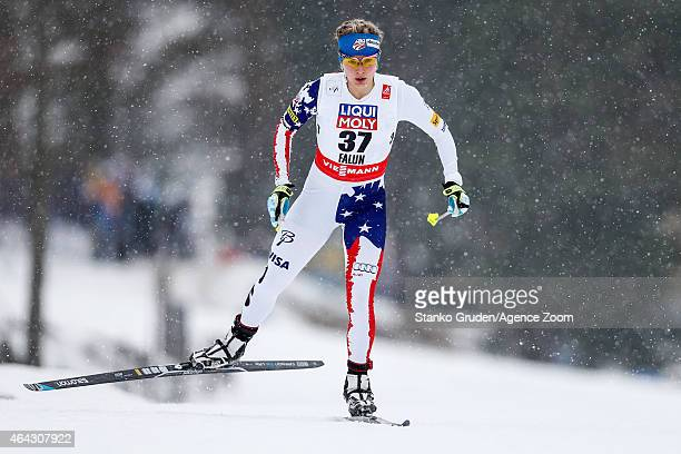 Jessica Diggins of the USA takes 2nd place during the FIS Nordic World Ski Championships Women's CrossCountry Distance Free on February 24 2015 in...