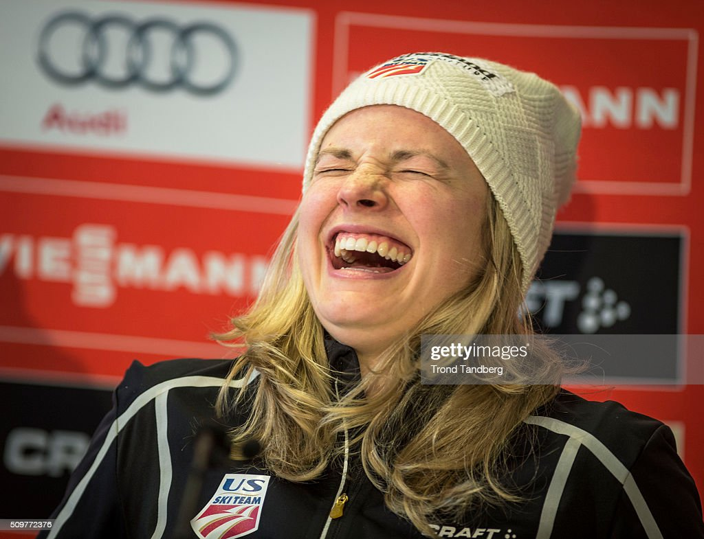 <a gi-track='captionPersonalityLinkClicked' href=/galleries/search?phrase=Jessica+Diggins&family=editorial&specificpeople=7521030 ng-click='$event.stopPropagation()'>Jessica Diggins</a> of USA attends a press conference ahead of the Cross Country Women 5.0 km Classic on February 12, 2016 in Falun, Sweden.