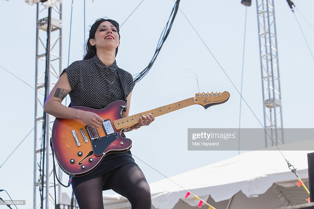 Jessica Dobson of Deep Sea Diver performs on the Bigfoot stage during the Sasquatch! Music Festival at Gorge Amphitheatre on May 27, 2016 in George, Washington.