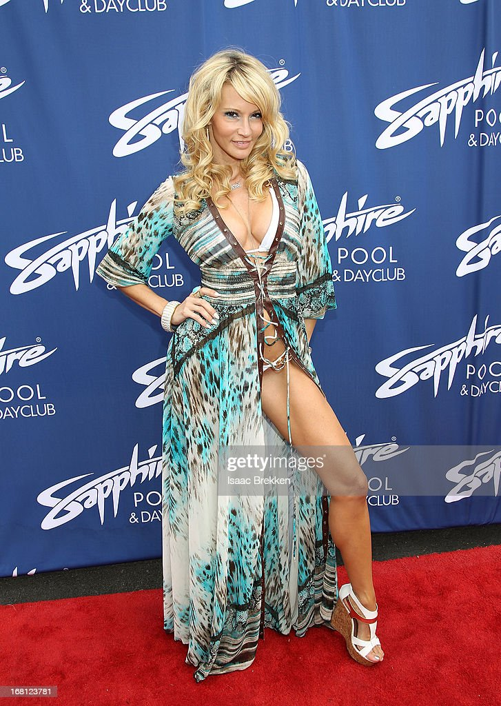 Jessica Drake arrives at the grand opening of the Sapphire Pool & Day Club on May 5, 2013 in Las Vegas, Nevada.