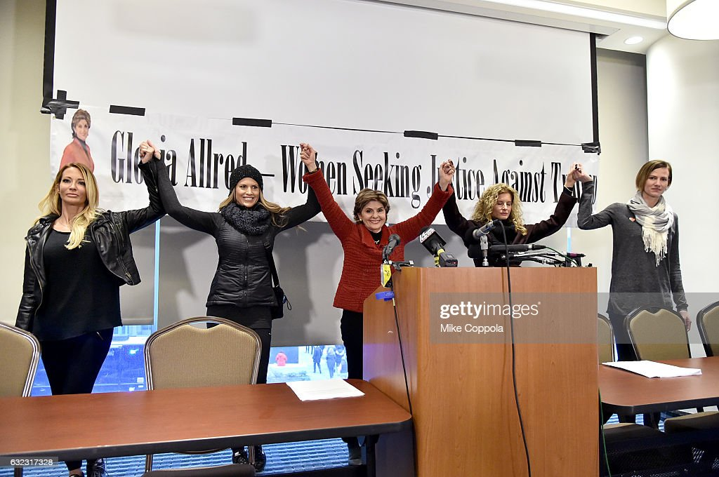 Accusers of President Donald Trump Hold Press Conference With Attorney Gloria Allred At The Women's March In Washington