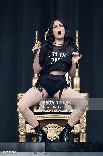 Jessica Ellen Cornish aka Jessie J performs on Main Stage during T in The Park Day 2 at Strathallan Castle on July 11 2015 in Perth United Kingdom