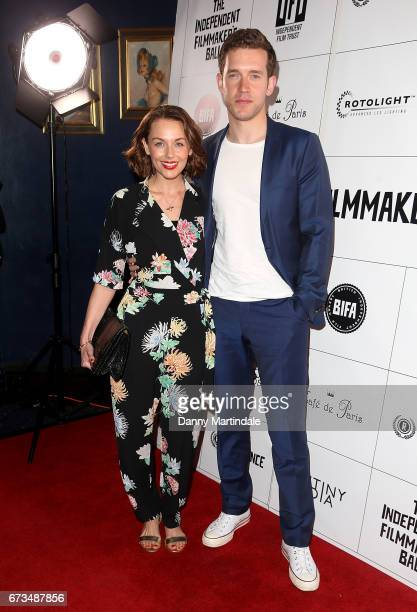 Jessica Ellerby and Nick Hendrix attends the Independent Filmmaker's Ball on April 26 2017 in London United Kingdom