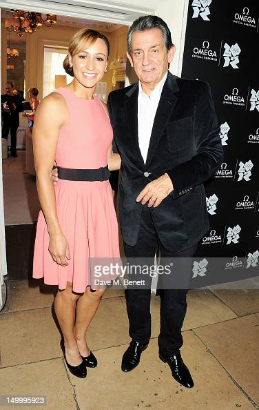 Jessica Ennis and OMEGA President Stephen Urquhart attend 'Athletics Night' at OMEGA House OMEGA's official residence during the London 2012 Olympic...