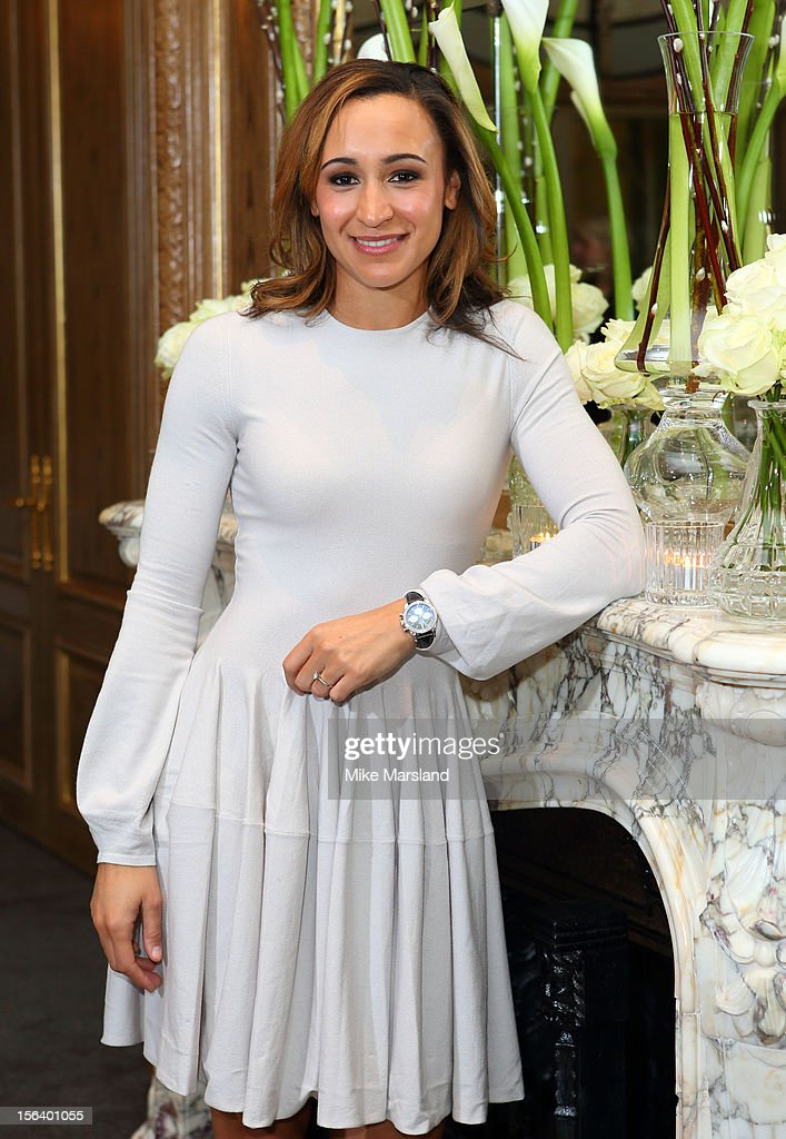 <a gi-track='captionPersonalityLinkClicked' href=/galleries/search?phrase=Jessica+Ennis&family=editorial&specificpeople=602482 ng-click='$event.stopPropagation()'>Jessica Ennis</a> attends an Olympic and Paralympic review dinner hosted by Omega at Claridge's Hotel on November 14, 2012 in London, England.
