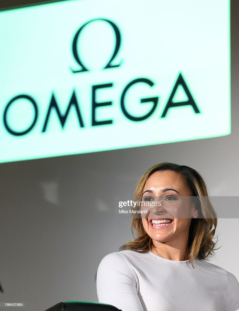 Jessica Ennis attends an Olympic and Paralympic review dinner hosted by Omega at Claridge's Hotel on November 14, 2012 in London, England.
