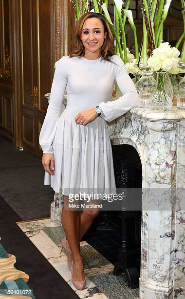 Jessica Ennis attends an Olympic and Paralympic review dinner hosted by Omega at Claridge's Hotel on November 14 2012 in London England