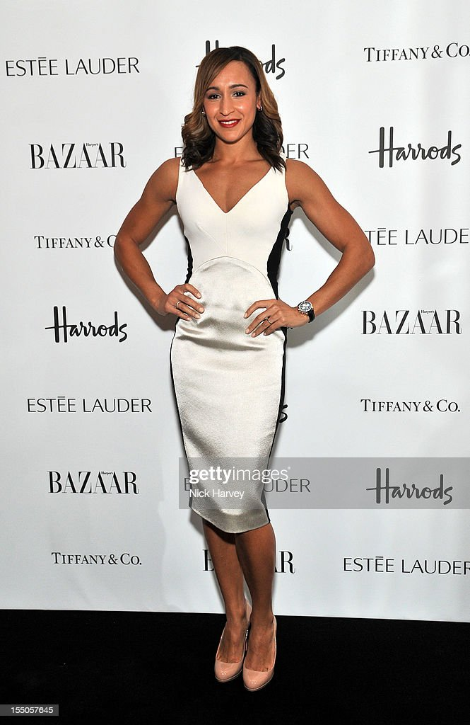 Jessica Ennis attends the Harper's Bazaar Woman of the Year Awards at Claridge's Hotel on October 31, 2012 in London, England.