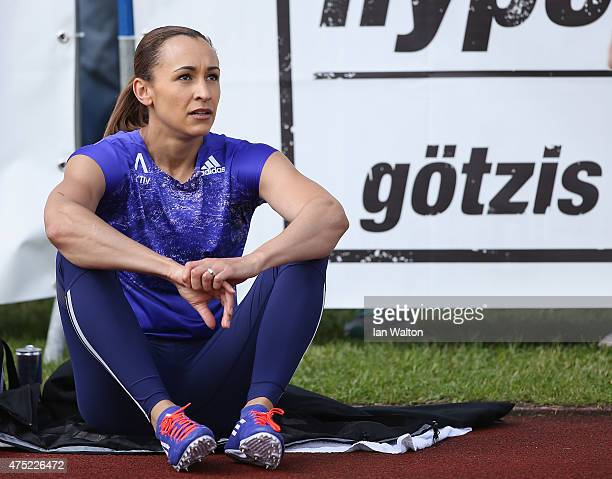 Jessica Ennis hill of Great Britain befor competing in the 100 metres hurdles in the women's heptathlon during the Hypomeeting Gotzis 2015 at the...