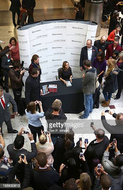 Jessica Ennis meets fans and signs copies of her book 'Jessica Ennis Unbelievable' at Waterstones Canary Wharf on November 9 2012 in London England