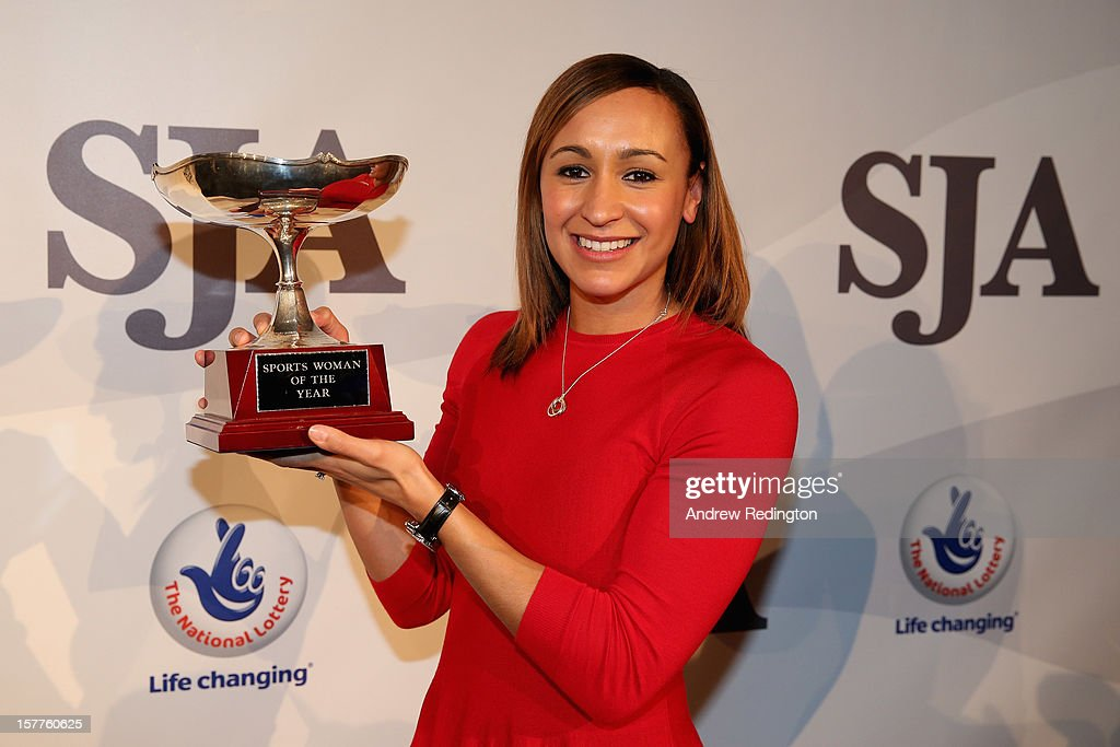 <a gi-track='captionPersonalityLinkClicked' href=/galleries/search?phrase=Jessica+Ennis&family=editorial&specificpeople=602482 ng-click='$event.stopPropagation()'>Jessica Ennis</a> of England poses with her SJA Sportswoman Of The Year award during the SJA 2012 British Sports Awards at The Pavilion at the Tower of London on December 6, 2012 in London, England.