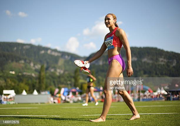 Jessica Ennis of Great Britain after competing in the Women's 200m in the women's heptathlon during the Hypomeeting Gotzis 2012 at the Mosle Stadiom...