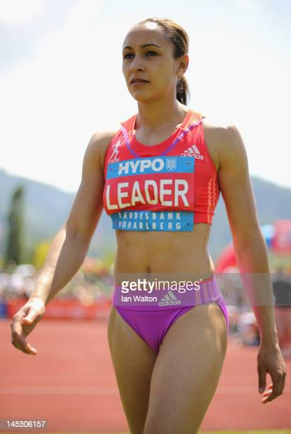 Jessica Ennis of Great Britain competes in the Women's High Jump in the women's heptathlon during the Hypomeeting Gotzis 2012 at the Mosle Stadiom on...