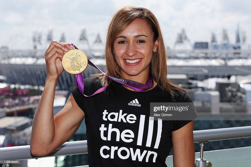 Jessica Ennis of Team GB at the adidas Olympic Media Lounge at Westfield Stratford City on August 5, 2012 in London, England.