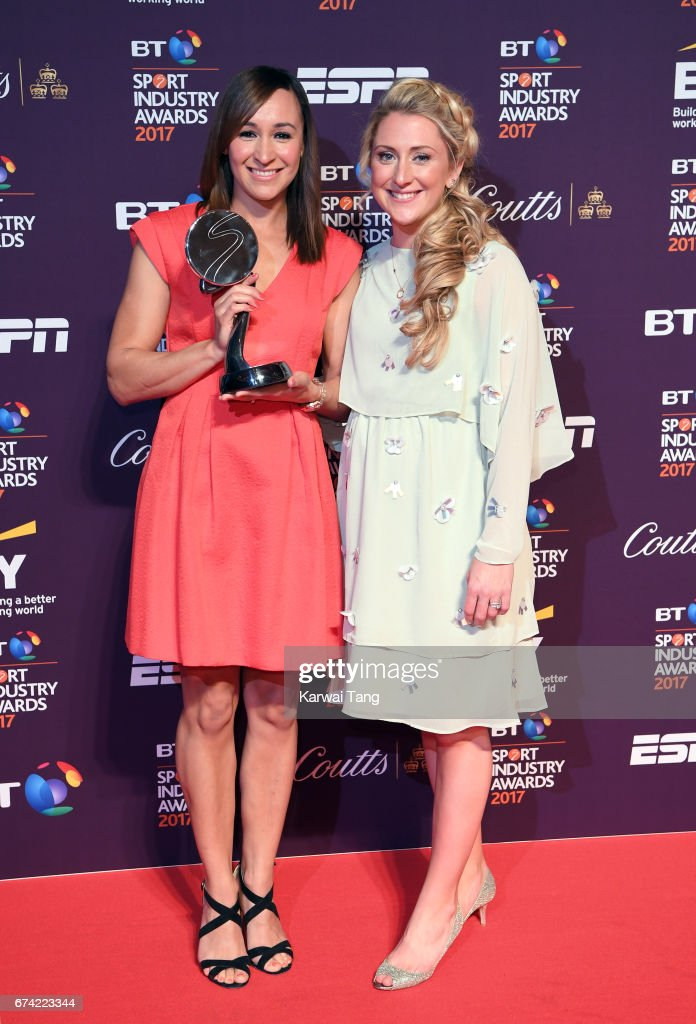 Jessica Ennis-Hill and Laura Kenny attend the BT Sport Industry Awards at Battersea Evolution on April 27, 2017 in London, England.