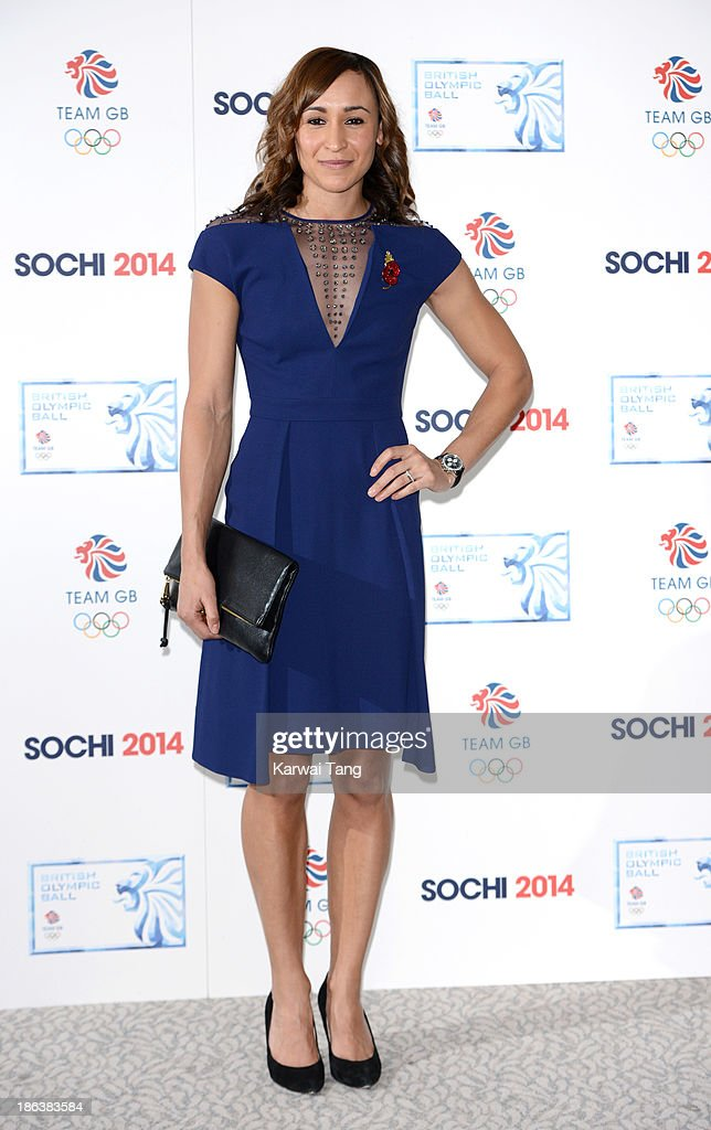 <a gi-track='captionPersonalityLinkClicked' href=/galleries/search?phrase=Jessica+Ennis&family=editorial&specificpeople=602482 ng-click='$event.stopPropagation()'>Jessica Ennis</a>-Hill attends the British Olympic Ball at The Dorchester on October 30, 2013 in London, England.