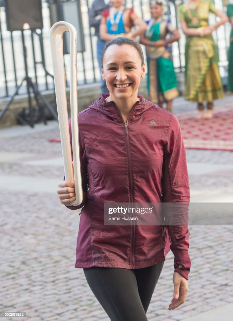 Jessica Ennis-Hill attens Commonwealth day celebrations service and reception at Westminster Abbey on March 13, 2017 in London, England.