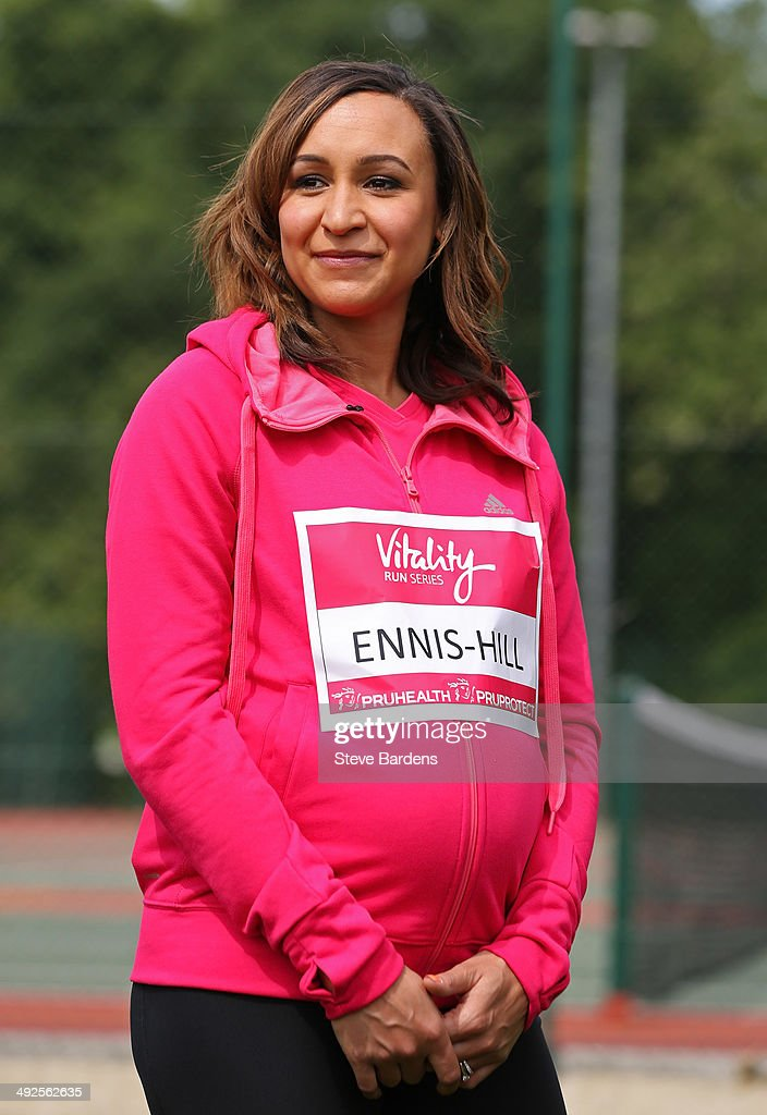 Jessica EnnisHill during the Vitality Series launch at Battersea Park on May 21 2014 in London England