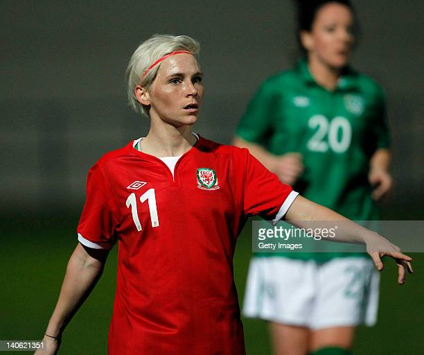 Jessica Fishlock of Wales during the Women Algarve Cup match between Wales and Ireland on March 2 2012 in Ferreiras Portugal