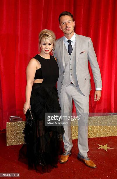 Jessica Fox and Ashley Taylor Dawson attend the British Soap Awards 2016 at Hackney Empire on May 28 2016 in London England