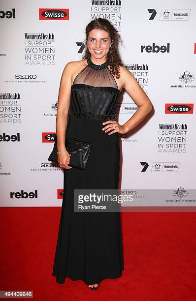 Jessica Fox arrives ahead of the Women's Health I Support Women in Sport Awards at Hordern Pavilion on October 27 2015 in Sydney Australia