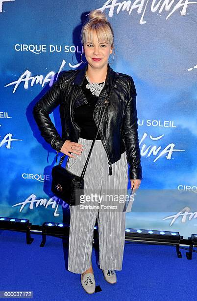 Jessica Fox arrives at the press night for Cirque Du Soleil's 'Amaluna' at The Big Top Intu Trafford Centre on September 7 2016 in Manchester England