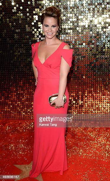Jessica Fox attends the British Soap Awards held at the Hackney Empire on May 24 2014 in London England