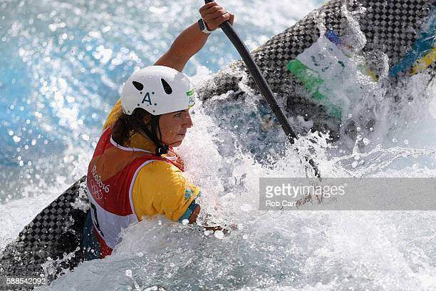 Jessica Fox of Australia competes during the Women's Kayak Semifinal on Day 6 of the Rio 2016 Olympics at Whitewater Stadium on August 11 2016 in Rio...