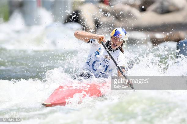 Jessica Fox wins Womens K1 during the 2017 Australian Open Canoe Slalom at Penrith Whitewater Stadium on February 18 2017 in Sydney Australia