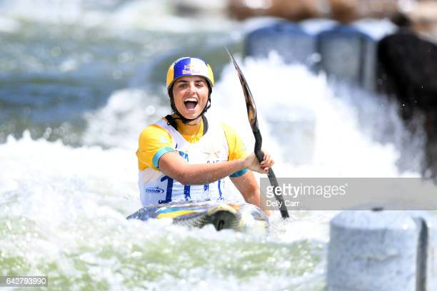 Jessica Fox wins Womens K1 Title during the 2017 Australian Open Canoe Slalom at Penrith Whitewater Stadium on February 19 2017 in Sydney Australia