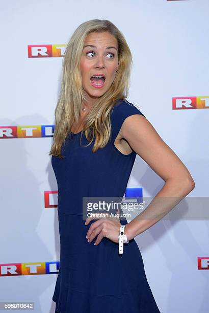 Jessica Ginkel attends photocall of RTL Program 2016/17 presentation at the REE Location on August 30 2016 in Hamburg Germany