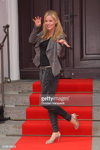 Jessica Ginkel attends the premiere of the musical 'Tanz der Vampire' at Stage Theater des Westens on April 24 2016 in Berlin Germany