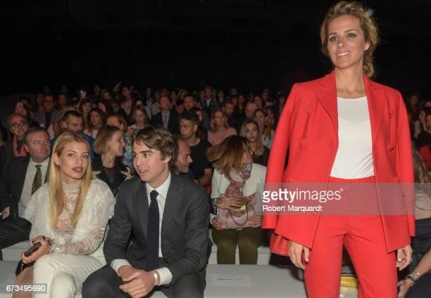 Jessica Goicoechea Alberto Palatchi Gallardo and Alejandra Silva attend the Studio St Patrick show during Barcelona Bridal Fashion Week 2017 on April...