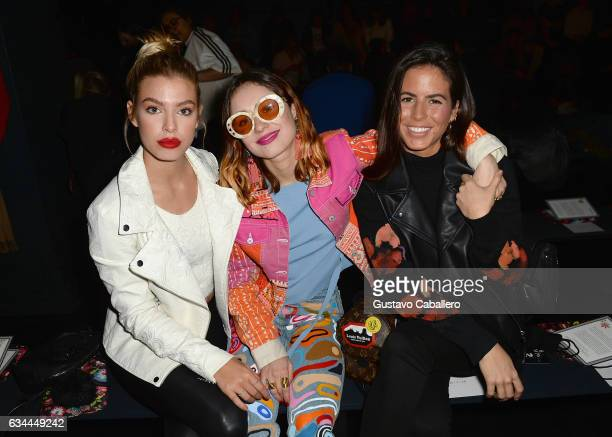 Jessica Goicoechea and Miranda Makaroff and guest attend Desigual show at Skylight Clarkson Sq during New York Fashion Week The Shows on February 9...