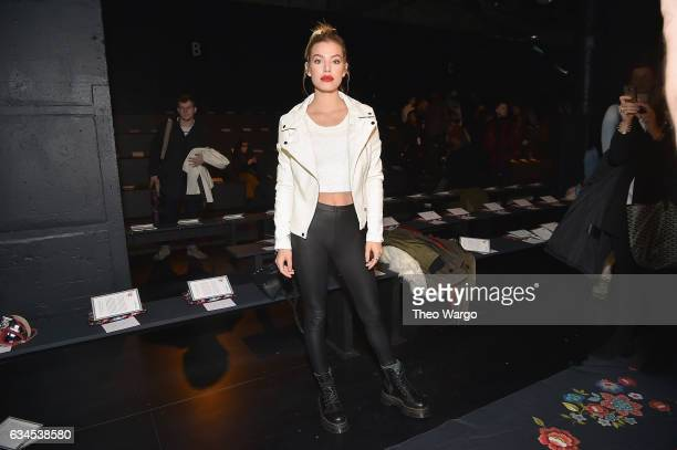 Jessica Goicoechea attends the Desigual fashion show during New York Fashion Week at Gallery 1 Skylight at Clarkson Sq on February 9 2017 in New York...