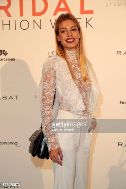 Jessica Goicoechea attends the Studio St Patrick collection during Barcelona Bridal Fashion Week 2017 on April 26 2017 in Barcelona Spain