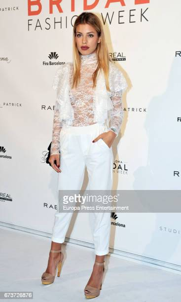 Jessica Goicoechea attends the Studio St Patrick show during Barcelona Bridal Fashion Week 2017 on April 26 2017 in Barcelona Spain