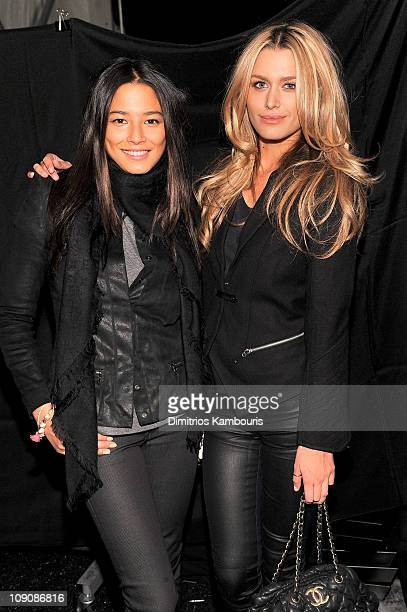 Jessica Gomes and Cheyenne Tozzi attend the NY RAW Special Edition Autumn/Winter 2011 Collection presented by GStar RAW during MercedesBenz Fashion...