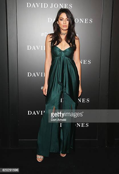 Jessica Gomes arrives ahead of the David Jones Christmas cocktail party at the new Barangaroo store on November 2 2016 in Sydney Australia